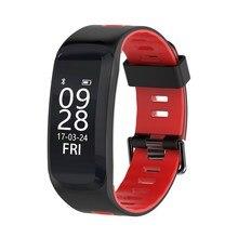 F4 Inteligente Pulseira De Fitness Heart Rate Monitor de Oxigênio No Sangue Pressão Arterial banda Dormindo Rastreador IP67 Inteligente Para IOS Android