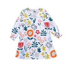 Baby Girls Dress Animal Appliques Cotton Vestidos  Princess Costume for Kids Clothes Long Sleeve Children Dresses стоимость