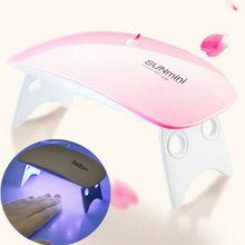 Портативный 6 Вт Мини УФ светодиодный светильник usb зарядка гель лак отверждения машина Сушилка для ногтей