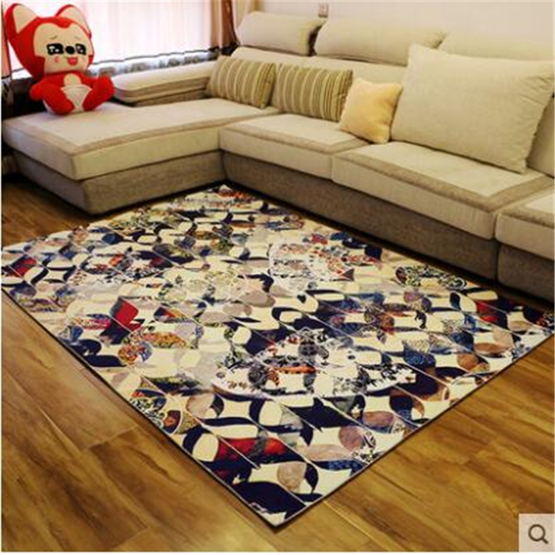 Coffee Table Minimalist Retro: Beibehang LEuropean Style Retro Carpet Living Room Coffee