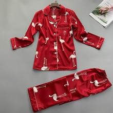 Summer Women Shirt Trousers Pajamas Sets Sleepwear Lady Home Wear Two piec Nightgown Suit Robe Bath Gown Sleepshirts M XL