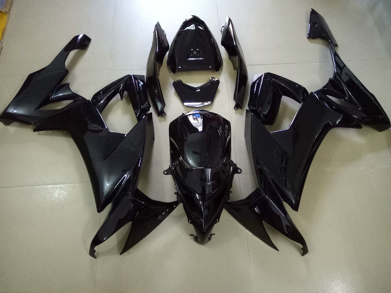 цены  Motorcycle Fairing kit for KAWASAKI Ninja ZX10R 2008 2009 2012 ZX10R 08 09 10 11 12 Complete black Fairings set+7 gifts SK62