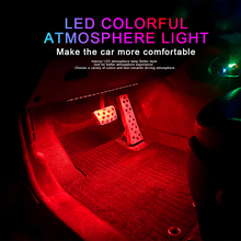 цена на 4X Car RGB LED Strip Light 12 LED Strip Lights Colors Car Styling Decorative Atmosphere Lamps Car Interior Light With Remote 12V