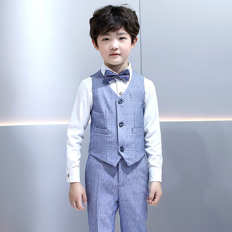 Kids Boys Suit For Wedding Piano Party Teenage Boys Vest/Belt+Pant+Shirt+Bowtie 4Pcs Sets Baby Boy Suits Formal Clothing Y132Kids Boys Suit For Wedding Piano Party Teenage Boys Vest/Belt+Pant+Shirt+Bowtie 4Pcs Sets Baby Boy Suits Formal Clothing Y132
