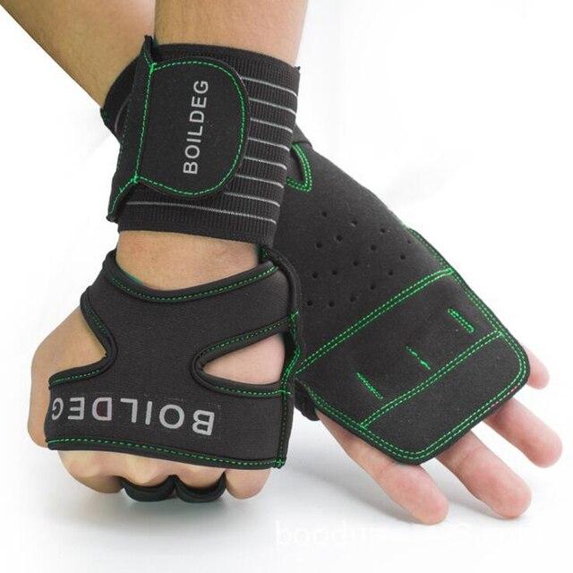 65db9275bdc823 Männer Frauen Handgelenk Wrap Brace Gewichtheben Handschuhe Sport Crossfit  Training Handschuhe Hantel Fitness Bodybuilding Halb Finger