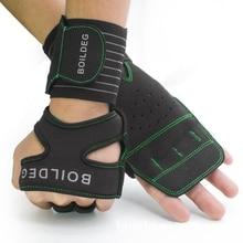 Men Women Wrist Wrap Brace Weightlifting Gloves Sports Crossfit Training Gloves Dumbbell Fitness Bodybuilding Half Finger Gloves