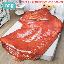 AAG Baby Air Conditioning 3D Quilt Child Summer Cool Lifelike Active Printing Comfortable Bed Kids Cartoon Print Quilts 40