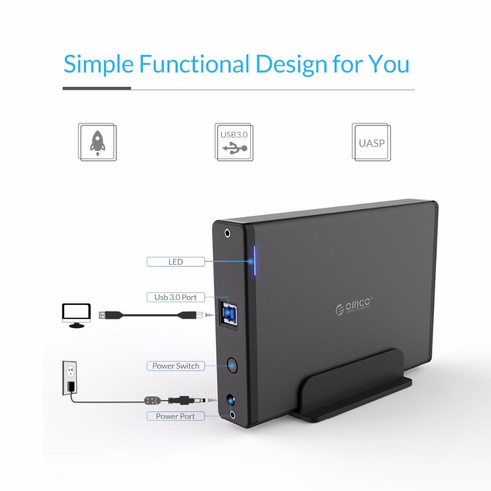 рынок 3.5 дюймов жесткий диск жесткий диск с USB3 корпусы.0 к С SATA3.0 жесткий диск случае док-станции поддержка уаиб 12v2a мощность алюминий