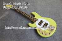 Top Selling Surf Green 4 String Musicman Electric Bass Guitar Chinese Left Handed Bass Free Shipping
