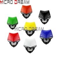 7 Colors Universal Offroad Streetfighter Indicator Lighting Motocross UFO Headlight Fairing For Honda Yamaha Suzuki Kawasaki KTM