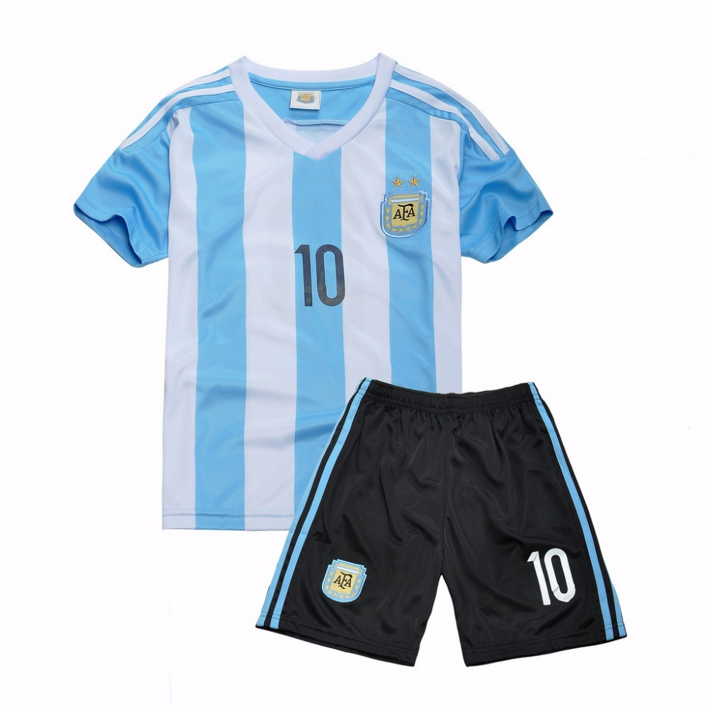 be7c6153f Soccer Jerseys Cheap MESSI Kids Clothes China Argentina Children Sports  Baby Football Kid Shirts Player Number 10 Baby Clothes