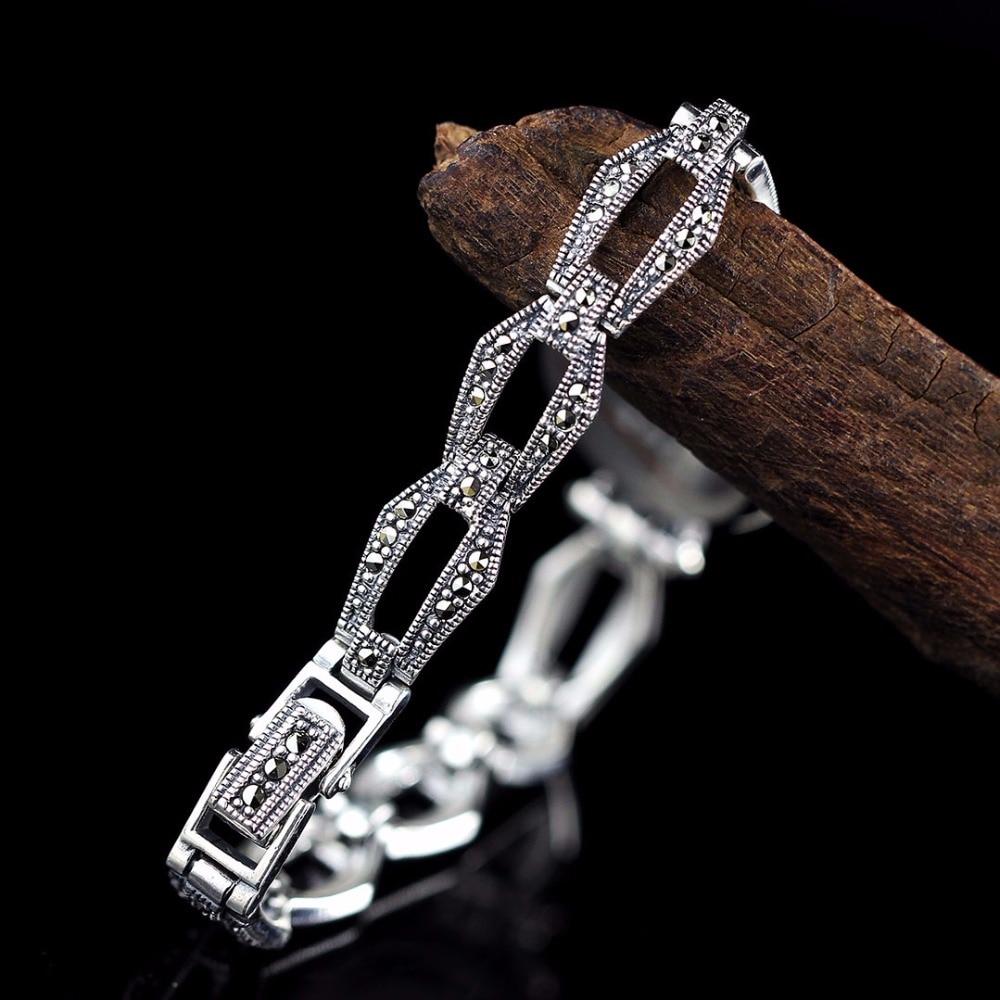 New Arrivals Vlinder Zilveren Horloge Top Kwaliteit S925 Zilveren Sieraden Horloge Echte Pure Zilveren Armband Horloges Echte Zilveren Bangle - 3