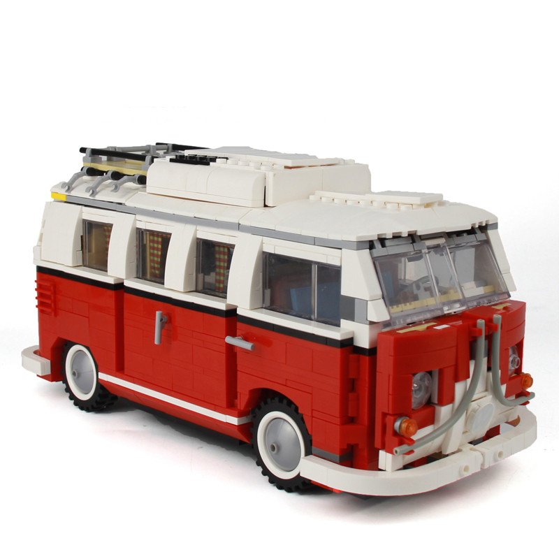 YILE 306 21001 the T1 Camper Van Model Building Blocks kits Compatible with lego 10220 Technic car Toys lightaling led light set compatible with brand camping van 10220 building model creator decorate kit blocks toys