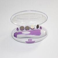 6 Teile/satz Beste Professionelle Luxus Frauen Mädchen Elektrische Maniküre Pediküre Schönheit Gesundheit Geschenk Set Kit Produkt