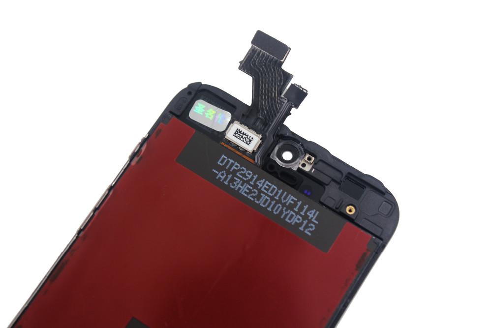 Czarny gwarancja 100% aaa wymiana wyświetlacza dla iphone 5 iphone 5c iphone 5s lcd z ekranem dotykowym digitizer pełna zgromadzenia 17