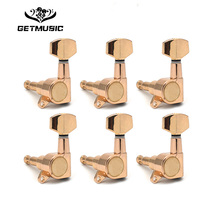 6PCS Guitar Tuning Pegs Tuner Machine Heads  FD Logo tuning peg machine head Chrome-Gold-Black Free shipping