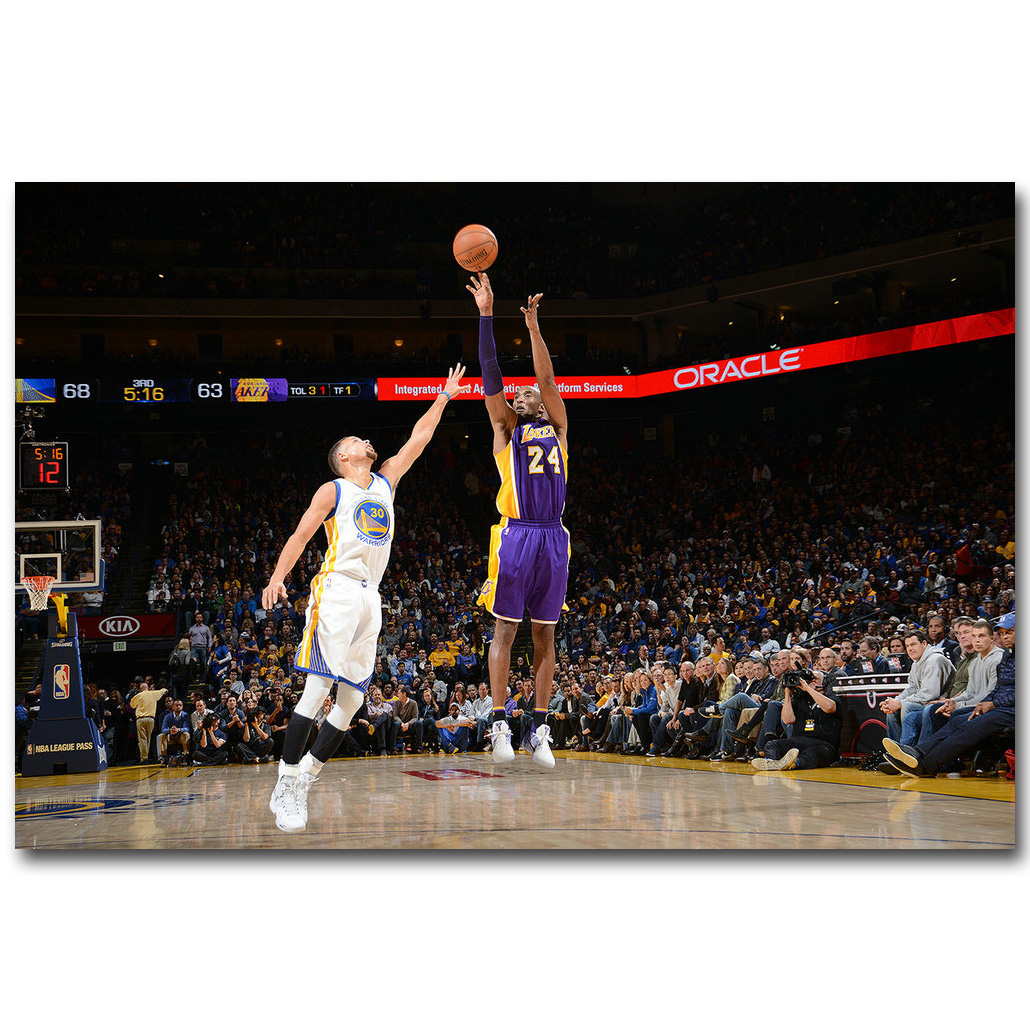 Kobe Bryant Art Silk Canvas Poster Wall Art Bedroom Decor Print 13x20 24x36 inch