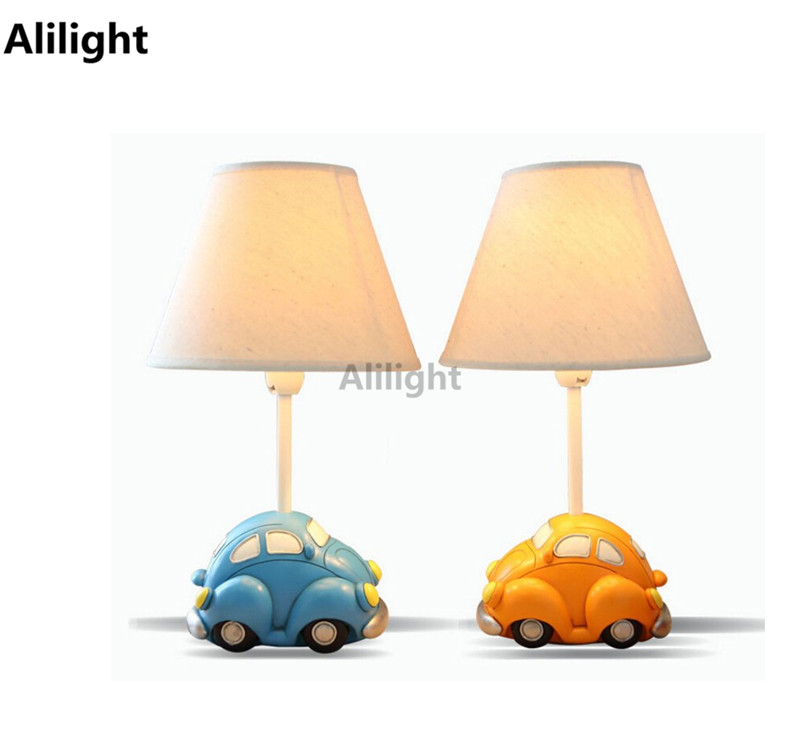 Modern Car Model Table Lamps Kids Desk Lights E14 Children Room Reading Study Desk Lights Led