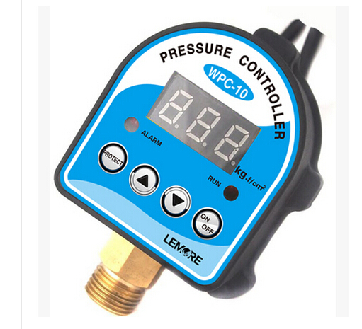Free Shipping Digital Pressure Control Switch WPC-10 Digital Display Pressure Controller For Water Pump dc 12v led display digital delay timer control switch module plc automation new