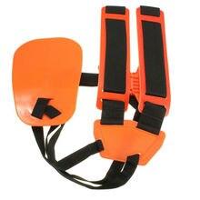 Professional Double Shoulder Strap Grass Hedge Trimmer Brush Cutter Harness Belt Carry Hook Garden Safety Orange