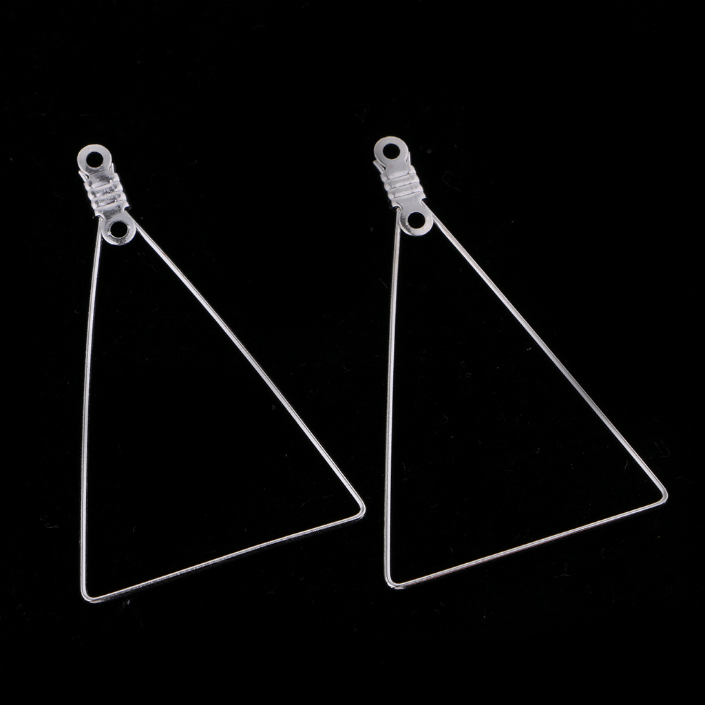 10 Pieces Women Detachable Triangle Hoop Dangle Pendant Earrings Ear Studs in Jewelry Findings Components from Jewelry Accessories