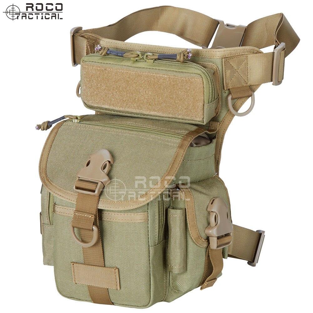 Rocotactical Militar Tactical Drop Bolsa Ferramenta Coxa Fanny Pack Motocicleta Thermite Versipack Leg