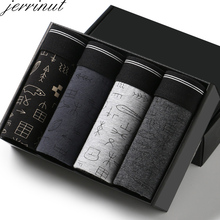 jerrinut 4Pcs/lot New Fashion Men's Underwear Boxer Sexy Features Cueca Boxer Me