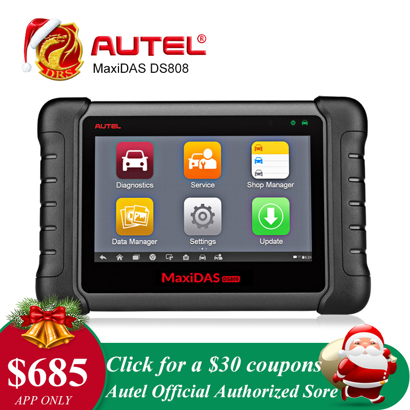Autel MaxiDAS DS808 Outil De Diagnostic À Distance WIFI OBD2 Scanner Voiture Outil D'analyse Clé Programmation De Diagnostic Scanner Automobile Outil