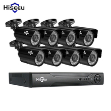 عدة نظام المراقبة بالفيديو Hiseeu 8CH CCTV AHD 1080P IR رصاصة CCTV أمن الوطن كاميرا CCTV مقاومة للطقس للأماكن المغلقة/الخارجية