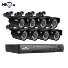 Hiseeu 8CH CCTV Systeem kit AHD 1080 P IR Bullet CCTV video Surveillance Home Security Indoor/Outdoor Weerbestendige CCTV cameras