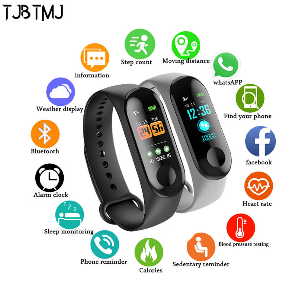 Smart Watch Men Women Heart Rate Monitor Blood Sport Smart Clock Watch For IOS Android  Push Message