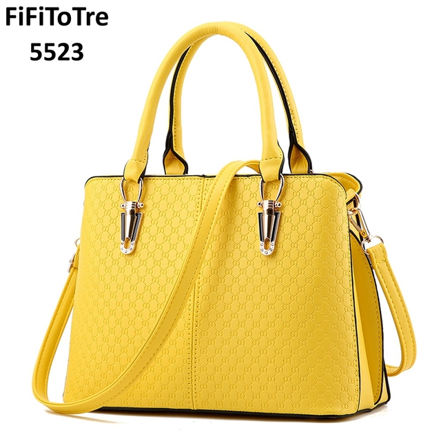 New women Messenger yellow bag casual wild ladies party purse clutches fashion patchwork totes sweet female shoulder bags