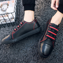 Men casual shoes elastic band slip-on designer sneakers big size 5.5-11.5 shallow vulcanize shoes for men 2018 autumn