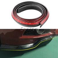 Car Carbon Fiber Front lip 2.5M For Peugeot 307 206 308 407 301 207 2008 3008 508 406 208 For Citroen C4 C5 C3 C2 Accessories