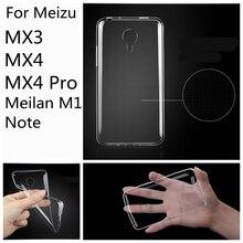High Quality 0 26mm ultra thin TPU Case For Meizu M2 mini MX3 MX4 MX5 Pro