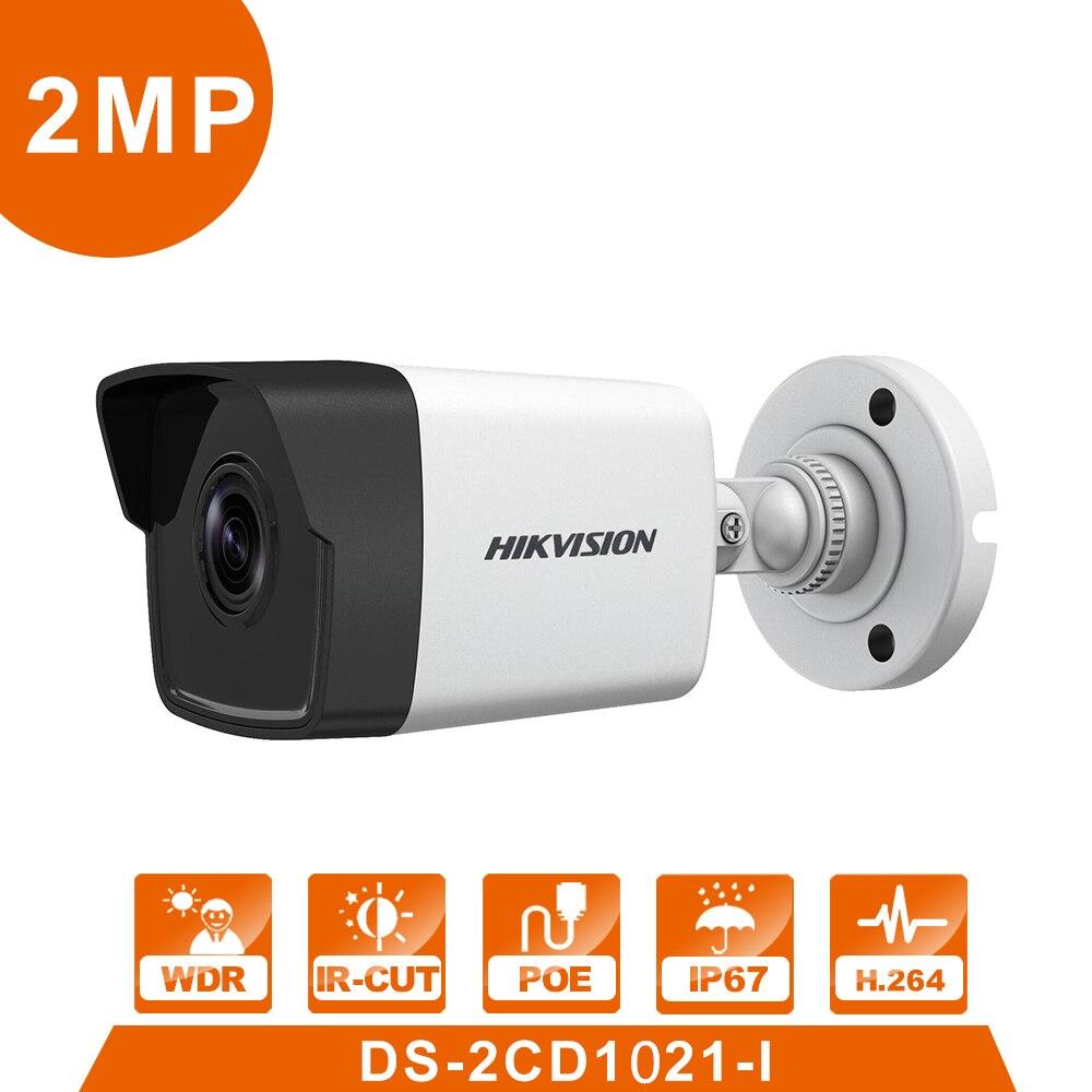 D'origine DS-2CD1021-I 2MP Hik IP Caméra Mini Caméra 1080 p IR30m IP67 Système de Sécurité Version Anglaise