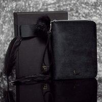 2018 Luxury Kinbor A6 Black Swan Travels Journal Gift Box Diary Book Black Velvet Planner Zipper Notebook Creative Stationery