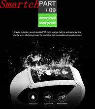 Smartch Новинка 2017 года IP67 профессии Водонепроницаемый S6 smart bluetooth браслет smartbands спортивные Для мужчин Напульсники группа для iOS и Android