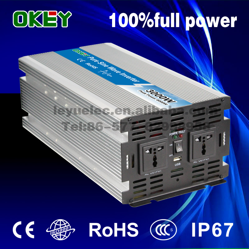 цена на Hot selling 12V to 220V 3000W pure sine wave inverter power dc to ac type converter solar home use inverter
