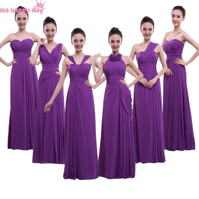 627fe66c5 € 43.57  Violet foncé promotions de mariée parti robes longue tenue de  soirée femmes robes nouveau 2018 robe d'été femmes sans manches v cou ...