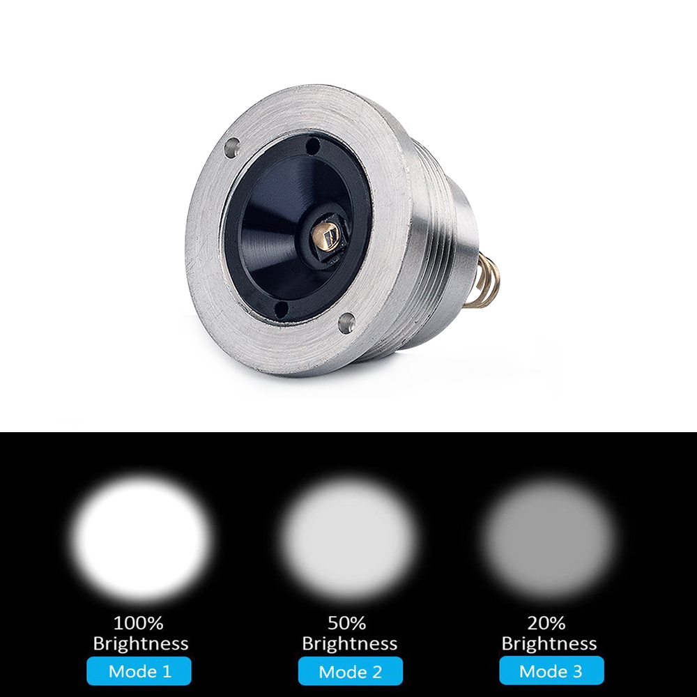 UniqueFire 3 Modes 1406 CREE XR-E Led Pill G/R/W Powerful Illuminated Led Drop in CREE XR-E Pill For 1406 T50 Flashlight Torch