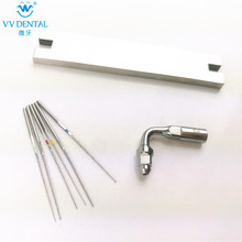 Ultrasonic scaler endo tip kit endo file stainless steel U-file Compatible with Woodpecker EMS ultrasonic scaler