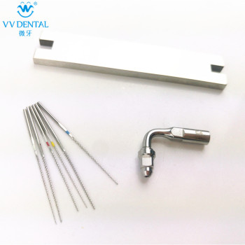 цена на Ultrasonic scaler endo tip kit endo file stainless steel U-file Compatible with Woodpecker EMS ultrasonic scaler