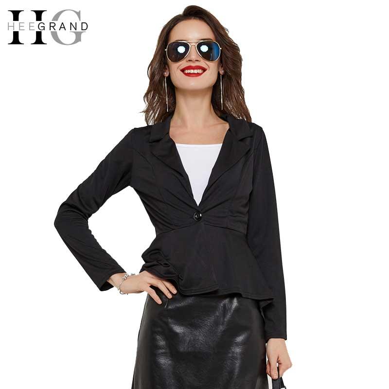Hee Grand 2018 Frauen Blazer Asymmetrische Mantel Herbst Winter Single Button Grundlegende Jacke Elegante Dame Blazer Schwarz S-2xl Wwx425 Frauen Kleidung & Zubehör Anzüge & Sets