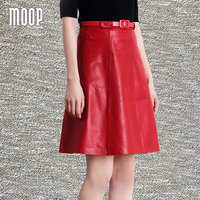 Красный Натуральная кожа Юбки Женская юбка А образного силуэта, faldas, jupe Saia etek faldas 100% ягненка дно Бесплатная доставка LT565