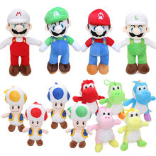 18-25cm Super Mario Plush Toy Super Mario Bros odyssey Luigi Toad Yoshi Princess Peach Daisy Plush Doll Toys Birthday Party Lot(China)