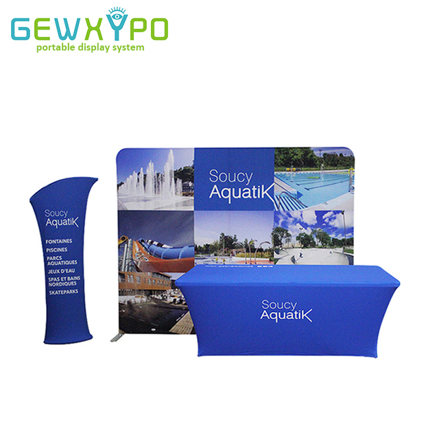 Expo Stand Backdrop : Expo booth 10ft pillow case style straight backdrop display wall