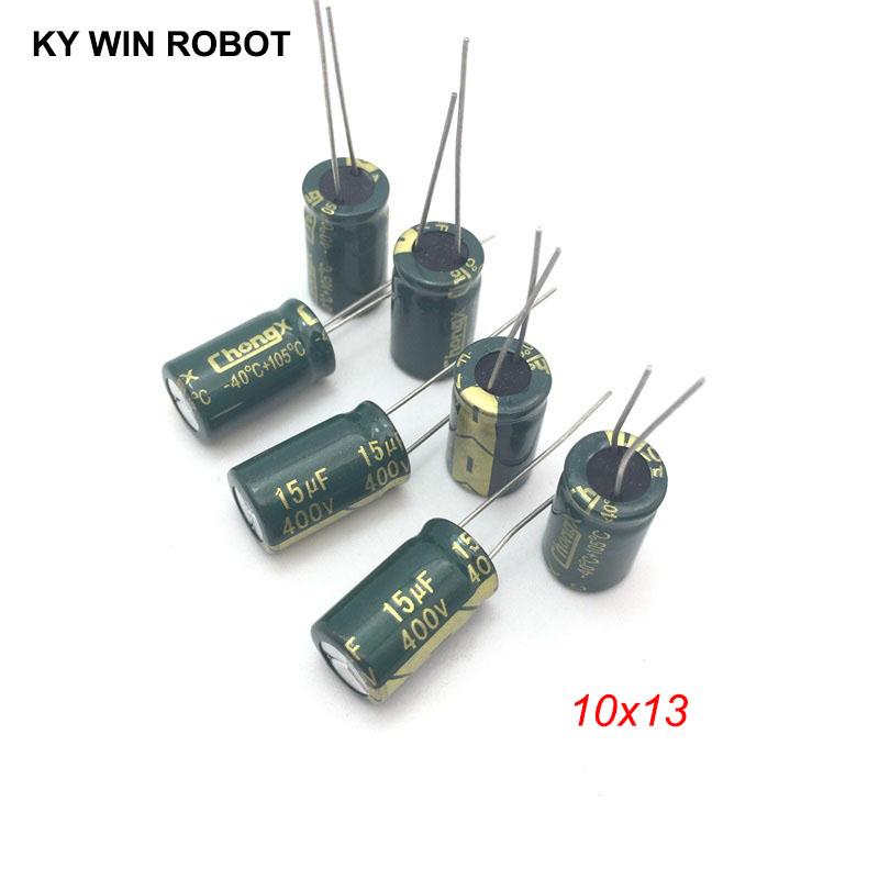 10pcs 400V 15UF Electrolytic Capacitors 15UF 400V 10x13mm 105C Radial High-frequency Low Resistance Electrolytic Capacitor