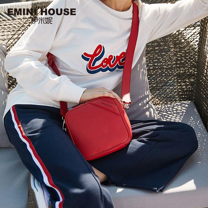 EMINI HOUSE Genuine Leather Square Bag Crossbody Bags For Women Luxury Handbags Women Bags Designer Mini