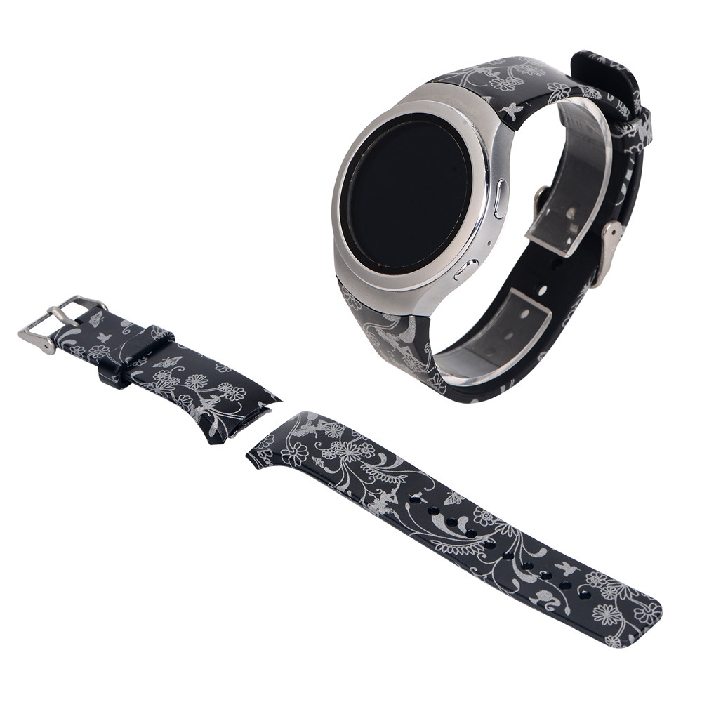 22mm Small Size Luxury Silicone Watch Band Straps For Samsung Galaxy Gear S2 SM-R732 Durable Bracelet Wristband Correa Reloj luxury silicone watch replacement band strap for samsung gear fit 2 sm r360 wristband 100